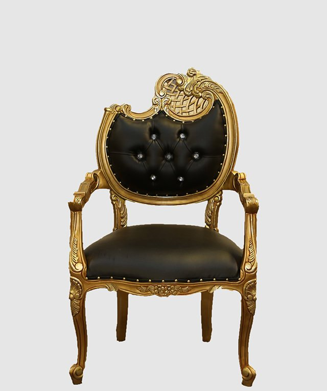 Black Baroque Louis Xv Chair Royalty Furniture Store