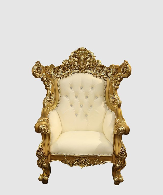 Gold And White Baroque Chair Royalty Furniture Store