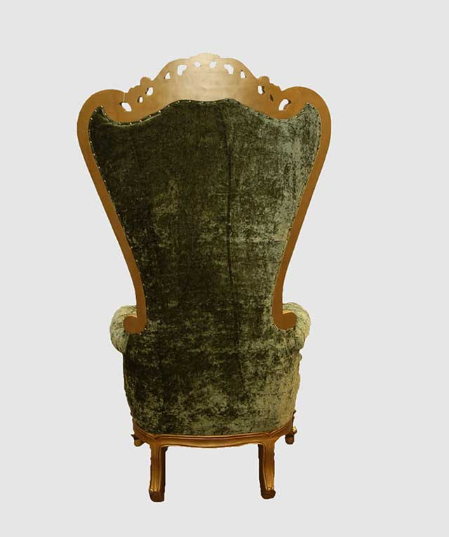 Click ... & Mad Hatter Green and Gold High Backed Throne Chair - Royalty ...