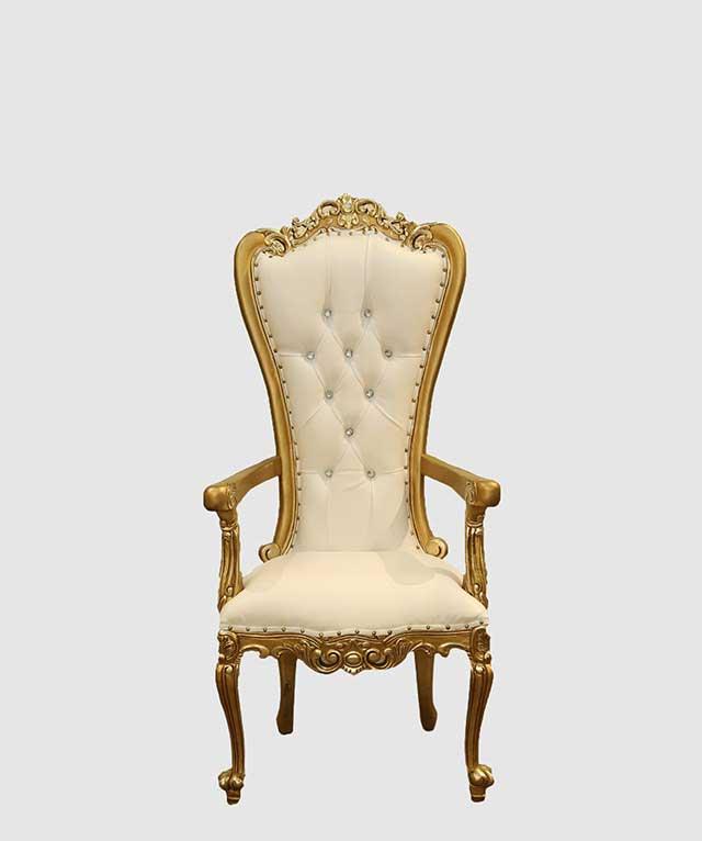 White Rabbit Gold And White Rococo Chair $1,267.00. Click ...