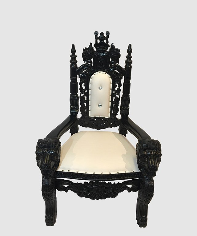 Kid Throne Chair Silver And White $1,236.00. Click ...