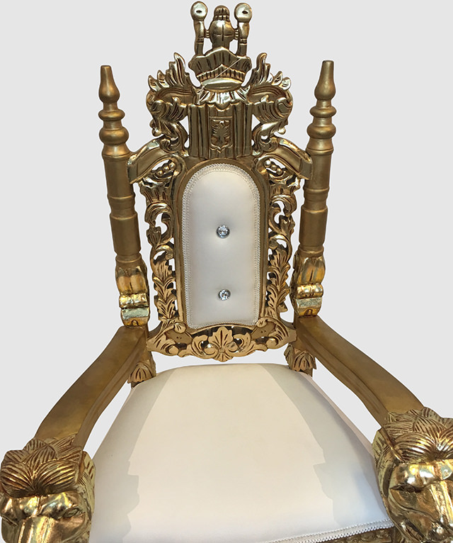 Kids Throne Chair Gold And White Royalty Furniture Store