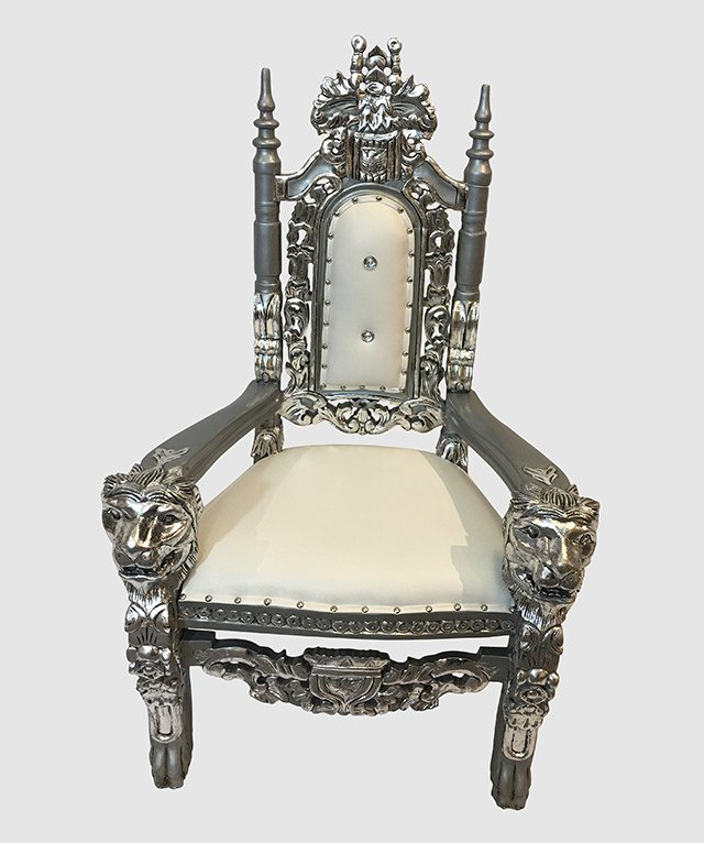 Charmant Kids Throne Chair Gold And White $1,236.00. Click ...